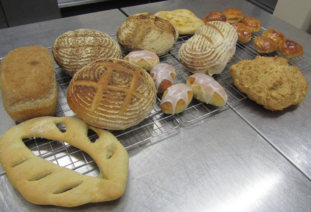 The breads made during the evening
